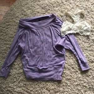 Bundle this slouchy free people top w/ arie lace!